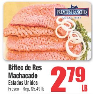 Biftec de Res Machacado