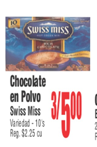 Chocolate en Polvo Swiss Miss