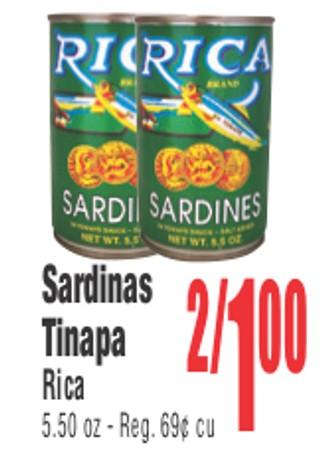 Sardinas Tinapa Rica
