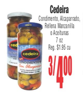 Cedeira Condimento, Alcaparrado, Rellena Manzanilla