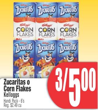 Zucaritas o Corn Flakes Kellogg's