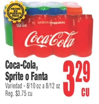 Coca-Cola, Sprite o Fanta