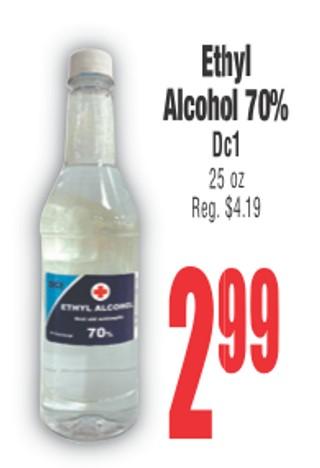 Ethyl Alchol 70 % Dc1