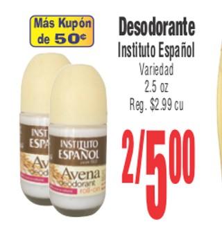 Desodorante Instituto Espeñol