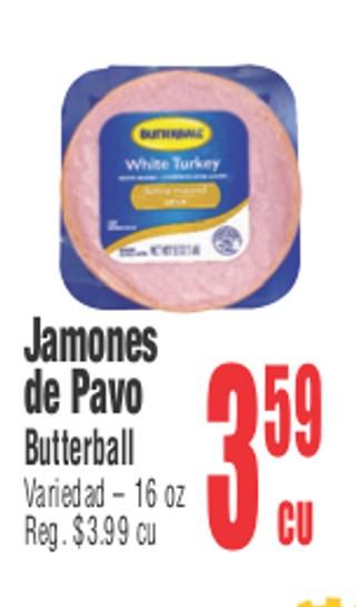 Jamones de Pavo Butterball