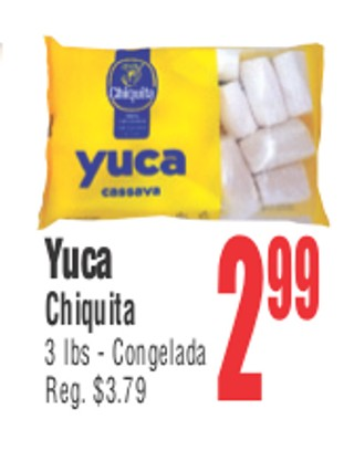 Yuca Chiquita 3 lbs