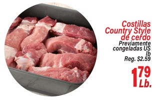Costillas Countr Style de Cerdo