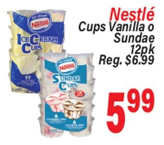 Nestlé Cups Vanilla o Sundae