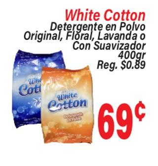 White Cotton Detergente en Polvo