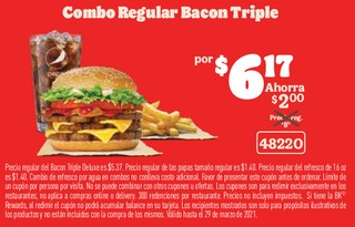 Combo Regular Bacon Triple