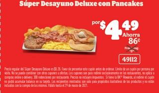 Super Desayuno Deluxe con Pancakes