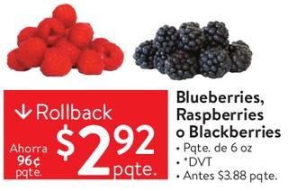 Blueberries, Raspberries o Blackberries