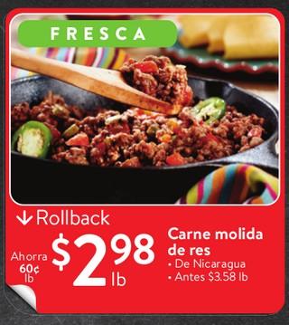 Carne molida de res De Nicaragua