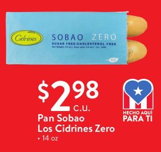 Pan Sobao Los Cidrines Zero 14 oz