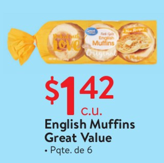 English Mussins Great Value