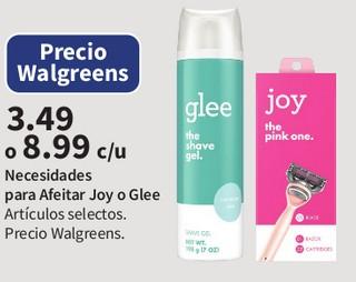 Necesidades para Afeitar Joy o Glee