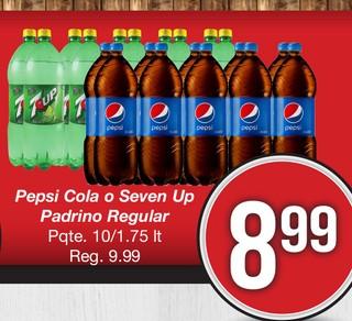 Pepsi Cola o Seven Up Padrino Regular