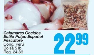 Calamares Cocidos Estilo Pulpo Español Pescatore