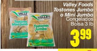 Valley Foods Tostones Jumbo o Mini Jumbo