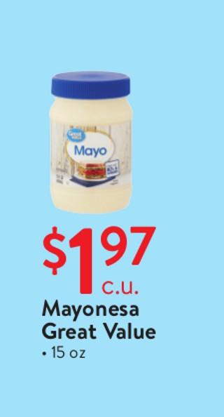 Mayonesa Great Value 15 oz