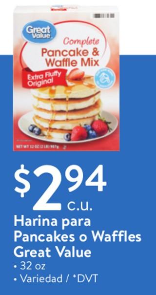 Harina para Pancakes o Waffles Great Value