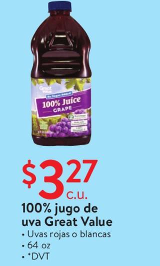 100% jugo de uva Geat Value