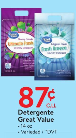 Detergente Great Value 14 oz