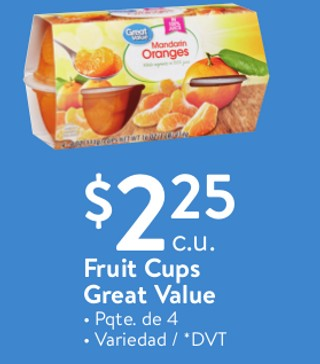 Fruit Cups Great Value