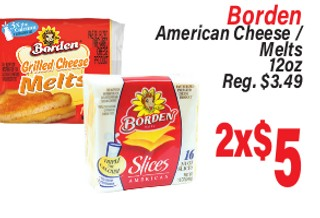 Borden American Cheese/Melts 12 oz