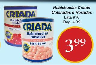 Habichuelas Criada Coloradas o Rosadas