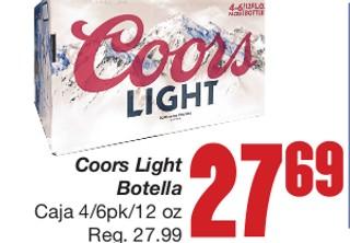 Coors Light Botella
