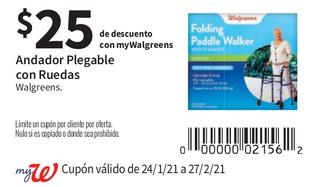 Andador Plegable con Ruedas Walgreens