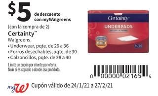 Certainty Walgreens