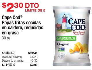 Cape Cod Papas Fritas Cocidas en Caldero
