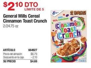 General Mills Cereal Cinnamon