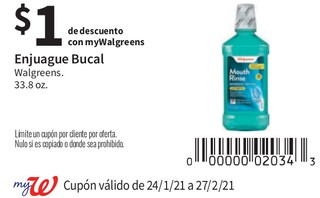 Enjuague Bucal Walgreens