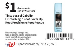 Tinte para Cabello L'Oreal Magic Root Cover Up, Root Precision o Root Roscue