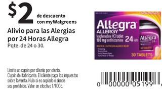 Alivio para las Alergias por 24 Horas Allegra