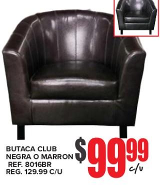 Butaca Club Negra o Marrón