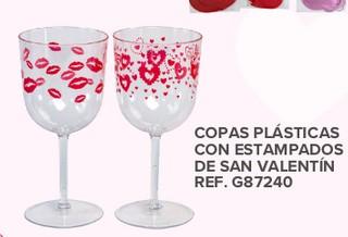 Copas Plasticas con Estampados de San Valentín