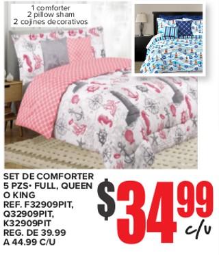 Set De Conforter 5 PZS - Full, Queen o King