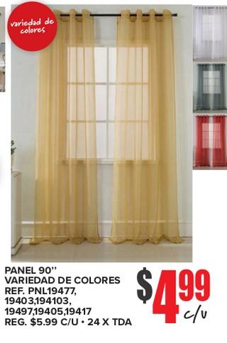 Panel 90'' Variedad De Colores