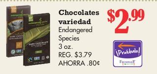 Chocolates Variedad Endangered Species 3 oz