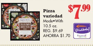 Pizza Variedad Mode With 10.5 oz