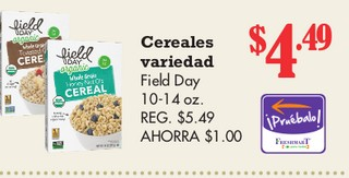 Cereales Variedad Field Day 10 - 14 oz