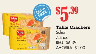 Table Crackers Schar 7.4 oz