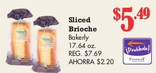 Sliced Brioche Bakerly
