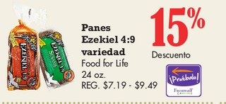 Panes Ezekiel 4:9 Variedad Food for life 24 oz