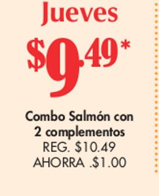Combo Salmon con 2 Complementos