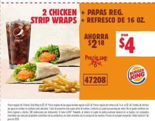 2 Chicken Strip Wraps